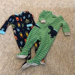 Other - 2 flannel footie pajamas